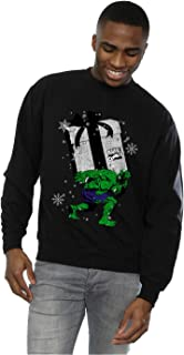 MARVEL Men's Santa Hulk Sweatshirt