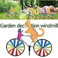 ROOYA BABY Direct-JP 風車 パーティー 庭の装飾 パーティーの好意 庭飾り 風スピナー風車 家の装飾 スティック カラフル 芝生 動物 ヤード 子供のおもちゃ ガーデン