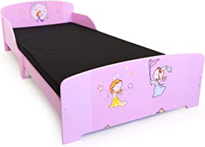 homestyle4u kinderbed tienerbed juniorbed prinses kinderen bed 90 x 200 kinderkamer