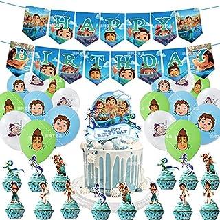 WZZA Disney Nieuwe Luca Thema Party Ballonnen Set Kids Gelukkige Verjaardag Banner Cake Topper Baby Douche Party Decoratie...