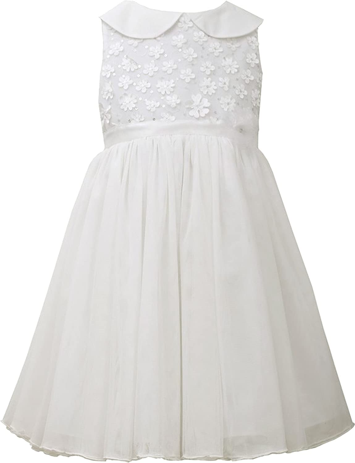 Little Girls 2T-4T Ivory Peter Pan Collar Fit and Flare Dress