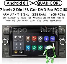 In Dash - Sistema de navegación para Coche (Android 8.1, Quad Core, Doble DIN, estéreo, para Ford Focus Mondeo S-MAX, C-MAX, Galaxy Support WiFi, 4G, Bluetooth, Dab, DVR, SWC)