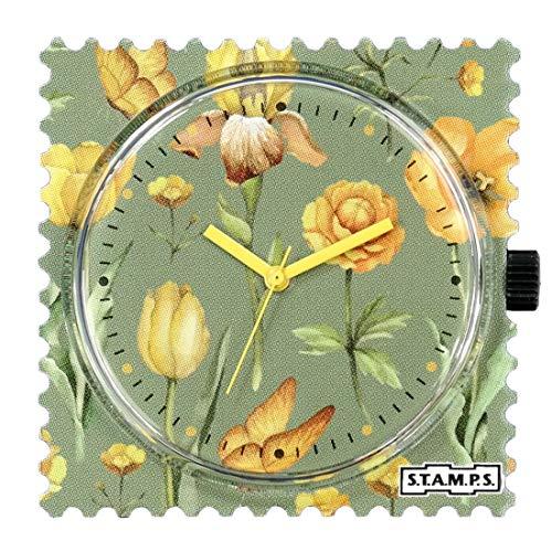 S.T.A.M.P.S. Stamps Uhr Zifferblatt Light Blossoms mit zusätzlichem Sticker und Batterie