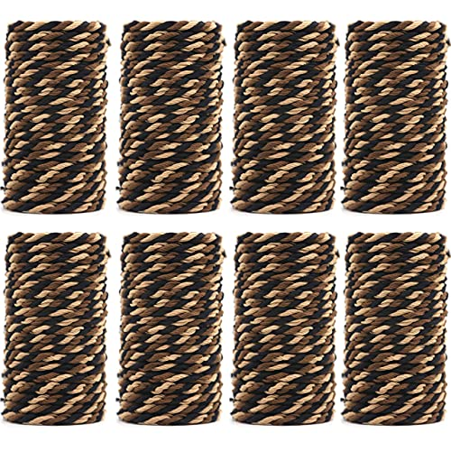 Braided Elastic Hair Ties Twisted Knotted for Thin, Thick and Curly Hairs No Crease Ponytail Holders No Damage or Slip Set (100 Pieces)