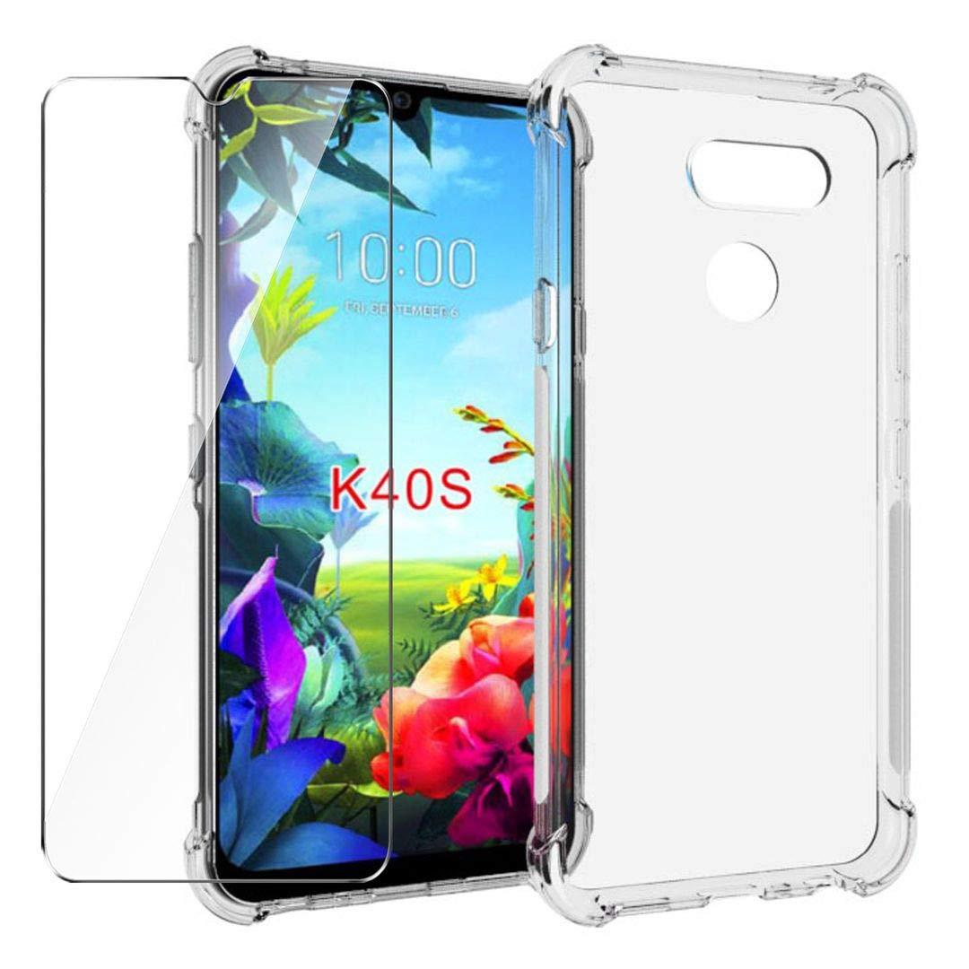HYMY Funda para LG K40S Smartphone + 1 x Cristal Templado: Amazon ...