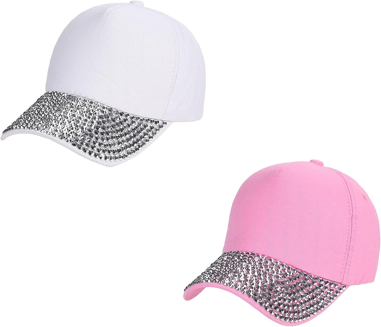 2021 Rhinestone Bling Hat for Womens Baseball Cap Yard Work Outdoor Tour Sun Protection Sunhat