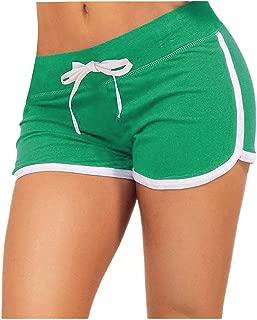 Women's Yoga Elastic Waist Running Athletic Shorts