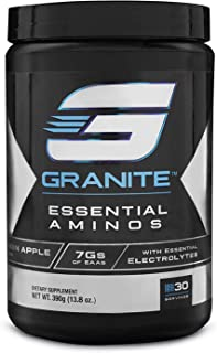 EAA Powder by Granite Supplements | 30 Servings of Essential Aminos Strawberry Lemonade to Promote Muscle Growth, Train Harder, and Recover Faster | Includes EAAs, BCAAs, and Electrolytes