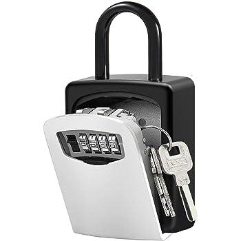 Caja de Cerradura con llave Montado en la Pared Clave Caja con Candado de 4 Dígitos