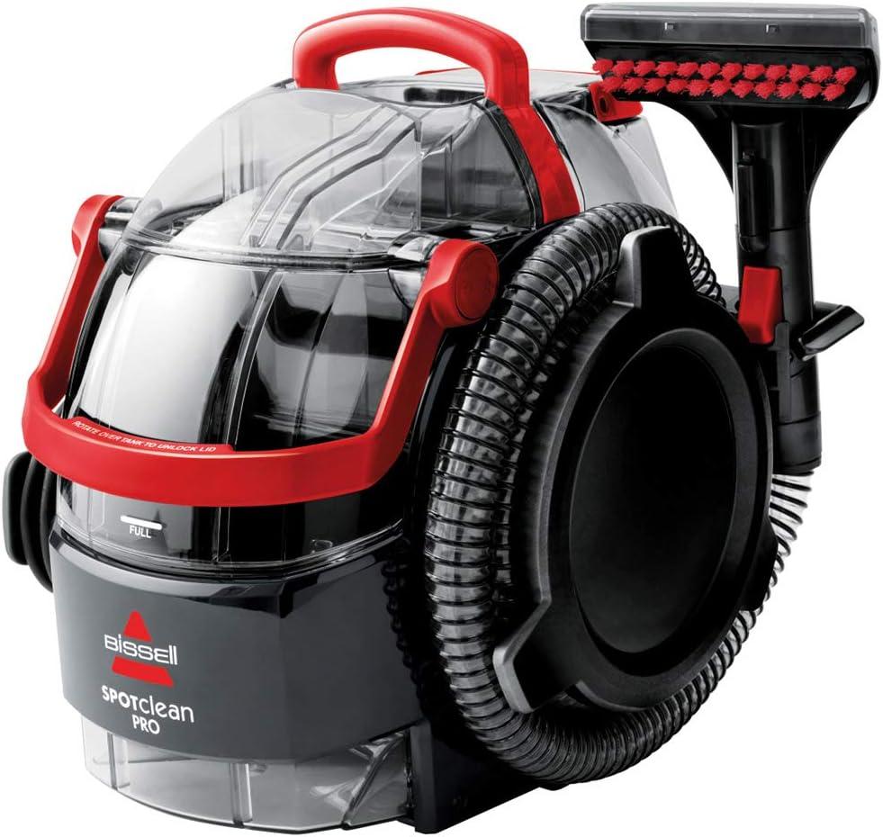 Bissell 1558N Limpiador a Mano para Manchas y alfombras, 750 W, 6.4 litros, 84 Decibelios, Plastic, Rojo/Negro + 1086N Limpieza para Alfombra, 1.5 Liters: Amazon.es: Hogar