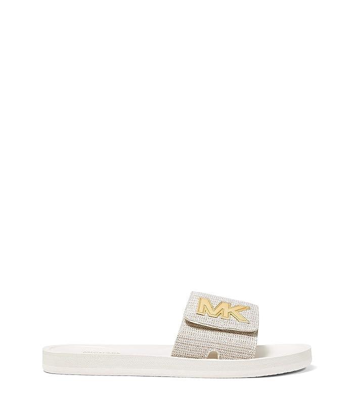 MICHAEL Michael Kors  MK Slide (Ecru) Womens Sandals