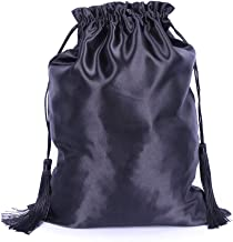 cards and other small items stones 6x8 Black bridal satin drawstring bag with red lace for jewelry BAG-098 Lace Trimmed Satin coins