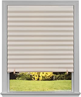 """Original Light Filtering Pleated Paper Shade Natural, 48"""" x 72"""", 6-Pack"""