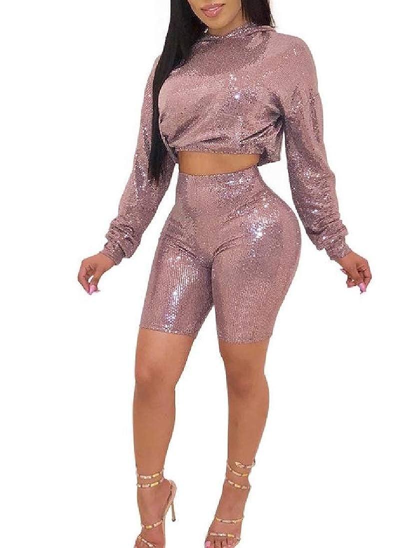 五眉をひそめる模索sayahe 女性個性ロングスリーブファッションbodyconフィットアクティブウェア