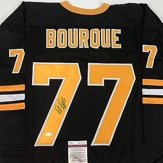 Autographed/Signed Ray Bourque Boston Black Hockey Jersey JSA COA