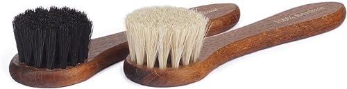 Langer & Messmer brosse crème 100% crin pour l'application de cirage et de cire aux chaussures - la brosse à chaussur...