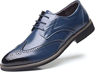 DADAWEN Men's Classic Brogue Formal Oxford Wingtip Lace-Up Dress Shoes