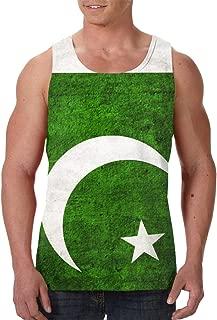 Pakistani Flag Mens Tank Tops, Gym Weight-Less Work Out Sleeveless T-Shirt Vest Shirt