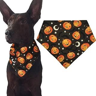 KZHAREEN Halloween Dog Bandana Triangle Bibs Scarf Accessories Pumpkin