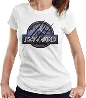 Jurassic Park Jurassic World Logo Claw Marks Women's T-Shirt