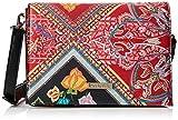 Desigual - Bag Folklore Cards Imperia Women, Bolsos bandolera Mujer, Rojo (Rojo Contra), 10x16x23 cm (B x H T)