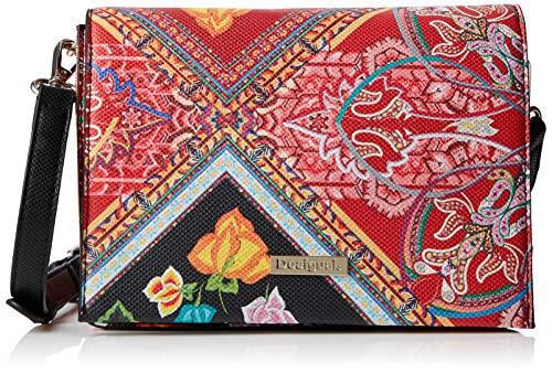 Desigual Bag Folklore Cards Imperia Women - Borse a tracolla Donna, Rosso (Rojo Contra), 10x16x23 cm (B x H T)