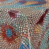 laro Wachstuch-Tischdecke Abwaschbar Garten-Tischdecke Wachstischdecke PVC Plastik-Tischdecken Eckig Meterware Wasserabweisend Abwischbar |14|, Größe:100x140 cm - 2