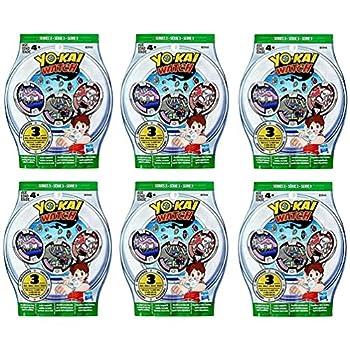 6 Blind Bags  Yo-Kai Watch Series 3 Medals - 18 Random Medals