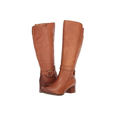 Naturalizer Dane Wide Calf (Light Maple Leather) Women