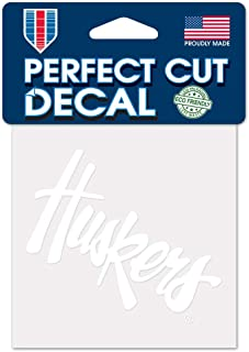 WinCraft NCAA Nebraska Cornhuskers 4x4 Perfect Cut White Decal, One Size, Team Color
