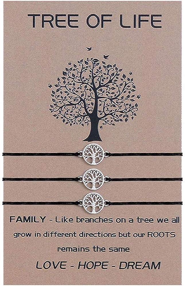 SUNSH Tree of Life Bracelets for Family Women Men Teen Girls Mot