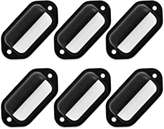 Dream Lighting 12V Black Oval Waterproof LED Number Plate Lighting/Step/Stair/Deck Lights for RV, Marine, Boat, Surface Mount 0.1 Watts Warm White, Pack of 6