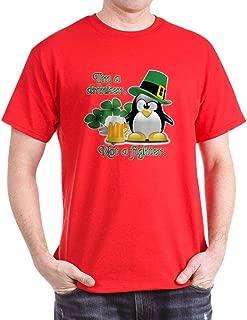 CafePress Beer Drinking Irish Penguin Cotton T-Shirt