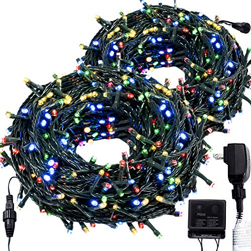 ROYAMY Outdoor Christmas String Lights 500LED 176ft,UL UL Certificated Waterproof Indoor Fairy Tree Lights for Halloween,Patio, Garden, Wedding, Holiday Party Decoration,Multicolor