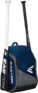 EASTON GAME READY Youth Bat & Equipment Backpack Bag | Baseball Softball | 2019 | 2 Bat Pockets or for Water Bottles | Vented Main Compartment | Vented Shoe Pocket | Valuables Pocket | Fence Hook