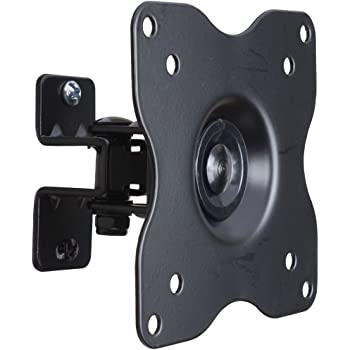 "VideoSecu ML411B Adjustable Tilt Swivel Rotation TV Wall Mount Bracket for 19"" to 42"" LCD LED TV and Monitor (Max 44 lbs, VESA 100/75) Black 1FF"