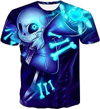 ZZYYLL T-shirt, doodshoofd met 3D-print voor heren...