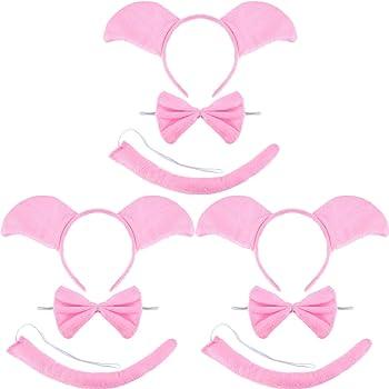 Set Orecchie Coda Gallo Bambini Carnevale 6-10 Anni Bambino Bambina Cerchietto Papillon Animali Giochi E Accessori Cosplay Per Travestimenti E Costumi
