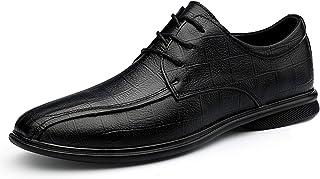 Zapatos casuales Zapatos de Oxford de los Hombres, Zapatos de vestir con relieve de tela escocesa de negocios formal, cord...