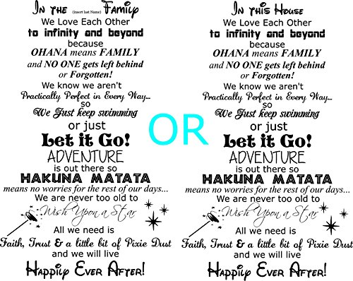 Walls with Style in The (Insert Your Last Name) Family Happily Ever After Wall Decal, in This House Type, (Black)