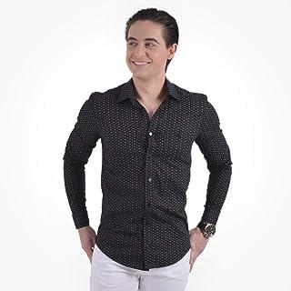 a349ee653c Camisa Social Estampada Masculina Slim 100229