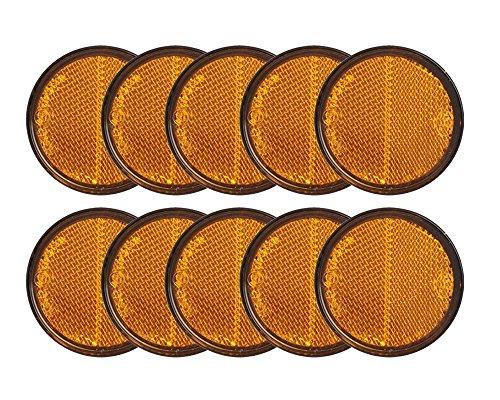 10x Reflektor orange Ø58mm selbstklebend von The Drive