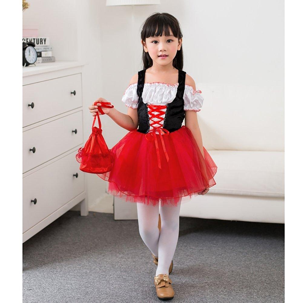 M&A Disfraz de Caperucita Roja Para Niña Rojo 98/104 (Talla del ...