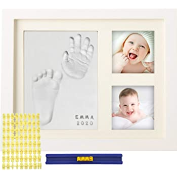 MyMiniJoy Baby Handprint Kit and Footprint Picture Frame Kit for Baby Gifts, Keepsake Box for Newborn Baby Boys and Baby Girls, Memorable and Unique Baby Shower Gifts Idea for Registry, New Mom Gifts