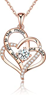 Heart necklaces for women 925 Sterling Silver Necklace...