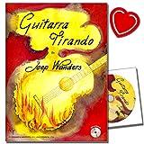 Guitarra tirando avec CD de joep Wanders Compositions–39, où la tirando de butée de l'individu–de blues sur Sud-américains jusqu'à classique–avec pince, cœur Note coloré