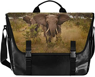 Bolsa de lona para hombre, diseño de elefante africano, para mujer, estilo retro