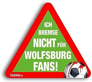 Kfz-Aufkleber Ich Bremse Nicht für Wolfsburg-Fans | Für mehr Spaß im Verkehr für alle Braunschweig-, Hannover 96- & Fußball-Fans | Vereinsaufkleber - PKW Auto Kfz Aufkleber