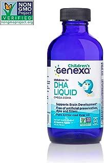 Genexa DHA Liquid Drops for Children – 24 Servings (4 FL OZ)| Omega-3 DHA from Pure Arctic Cod Liver Oil | Non-GMO & Gluten-Free