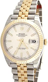 Rolex Datejust Ii 41mm White Dial Yellow Gold And Steel Men's Watch 126333
